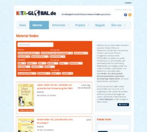 KiTa-global, Material-Sammlung, Filterkriterien